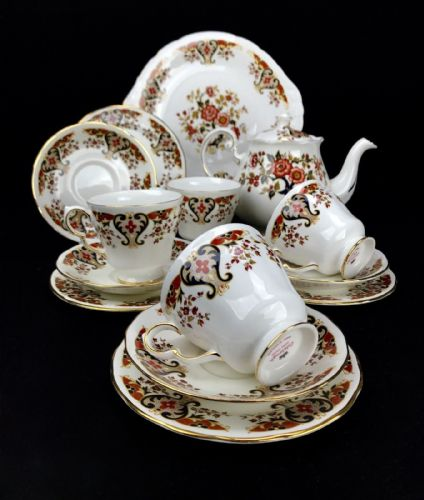 Colclough Royale Tea Set For 4 People / Vintage / Trio / Tea Pot / Afternoon Tea